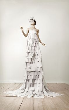 ℘ Paper Dress Prettiness ℘ art dress made of paper - COCO AND ROC  PAPER DRESS