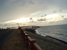 Tamil Nadu, Rameswaram, Pamban Bridge. This photo is taken by me - November 2009