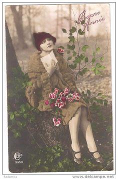 "Carte Postale Ancienne ""Lettre"" France 1928."