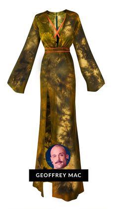 Verdonna Green Tye Dye Silk Gown by Geoffrey Mac of Bravo's Project Runway Define Fashion, What Is Fashion, Fashion Now, Fashion 2020, Fashion Outfits, Fashion Trends, Silk Gown, Project Runway, Tye Dye