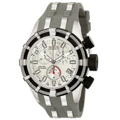 Invicta Men's 6434 Reserve Collection Chronograph Gray Polyurethane Watch Invicta. $189.99. Water-resistant to 660 feet (200 M). Durable flame-fusion crystal; Polished stainless steel case; Grey polyurethane strap with stainless steel inserts. Silver dial with luminous hands and hour markers; Stainless steel bezel with stainless steel wire; Black stainless steel pushers and screw-down crown; Tachymeter on inner bezel. Precise Swiss-Quartz movement. Chronograph functions w...