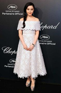 Fan Bingbing wearing another great Ralp and Russo dress at Cannes 2015, 18 May. Again, lovely lace.