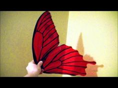 Make $10 cellophane fairy wings: No wire, safe for kids, patterns included. - YouTube