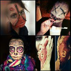 #Halloween 🎃 👻 #mask #homemade #zipface #voodoodoll #sugarskull #sfxmakeup #makeup