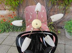 Vintage Kronleuchter - mid century Design Deckenlampe 50er - ein Designerstück von artdecoundso bei DaWanda