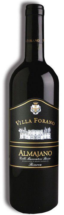 """Villa Forano - """"ALMAJANO"""" Colli Maceratesi Rosso Doc Riserva (sangiovese, Lacrima e Vernaccia Nera)"""