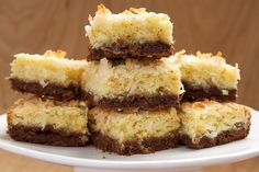 Coconut Bars with Chocolate Shortbread Crust: Chocolate and coconut are always a favorite combination.  @jlmchenry
