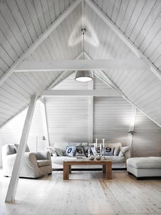 HOME & INTERIOR | Septimius Krogh more on  http://www.italianbark.com/10-inspiring-attic-interiors-pitched-roofs/