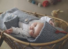 ENGLISH Super Easy Baby Sleeping Bag Knitting Pattern PDF - $3.90