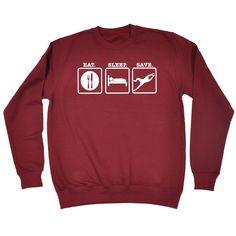 123t USA Eat Sleep Save ... Goalkeeper Funny Sweatshirt