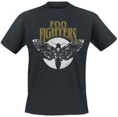 Foo Fighters Hawk Moth Herren-T-Shirt - schwarz - Offizielles Merchandise Foo Fighters, Pink Floyd Dark Side, Image Mode, Hawk Moth, Military Ball Dresses, Celebrity Halloween Costumes, Waist Cincher Corset, Tee T Shirt, Gaming Merch