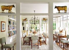 Traditional Dining Room by Cullman & Kravis and Cooper, Robertson & Partners in East Hampton, New York