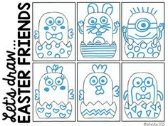 Lets draw easter friends freebie what a fun brain break idea lets draw easter friends freebie what a fun brain break idea during the week of easter even for the upper elementary kiddos negle Image collections