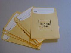 Idea 32-Thank you cards, librarian style.  Make a thank you card for your librarian today!