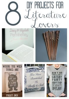 DIY projects and crafts inspired by our favorite books, from Harry Potter to The Great Gatsby
