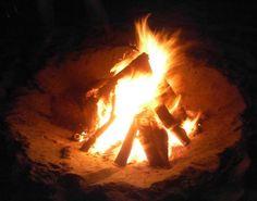 Beach campfire at Cape Cod National Seashore