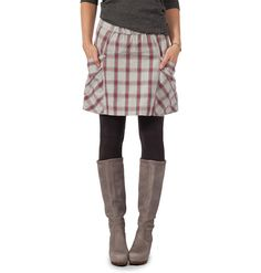 plaid skirts & boots =cozy awesomeness.