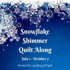 July - September 2016: Snowflake Shimmer Quilt Along by quiltingjetgirl.com