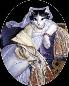 I remember when I was younger my father purchased a book for me filled with cats dressed in the most beautiful costumes. That is the day I fell in love with anthropomorphic art😍 I Love Cats, Crazy Cats, Cool Cats, Costume Chat, Cat Costumes, Dance Costumes, Animal Gato, Fancy Cats, Gatos Cats