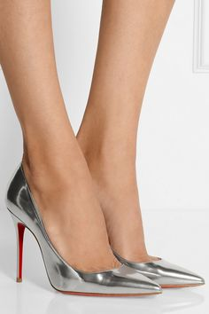 Christian Louboutin | Décolleté 100 metallic leather pumps | NET-A-PORTER