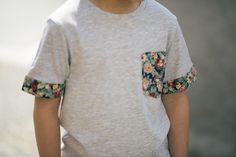 Camiseta flores #niños #handmade#boys #clothes #tshirts #flowers