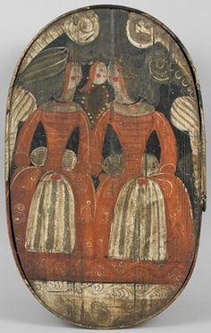 Early painted folk art box
