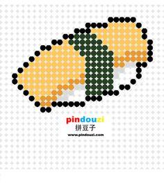 Sushi perler bead pattern