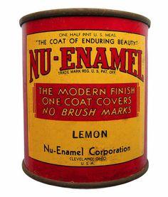 vintage tin designs | Vintage paint tin label-design