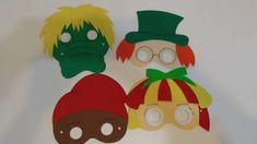 Resultado de imagem para mascara Visconde de Sabugosa Craft Work, Professor, Alice, Lettering, Education, Christmas Ornaments, Holiday Decor, Crafts, Diy