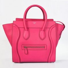 Celine Luggage Small Handbag Fucshia