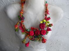 Garden of Dreams...Floral statement hand by AccessoriesLilit