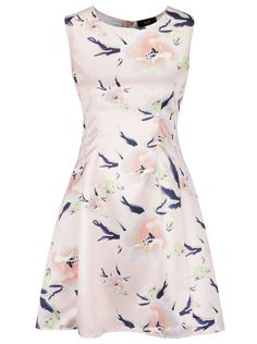 Růžové květované šaty bez rukávů AX Paris