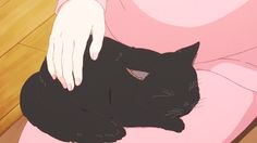 Anime: Kanojo to Kanojo no Neko / She and her. Black Cat Anime, Black Cat Art, Anime Kitten, Gato Anime, Manga Anime, Black Cat Aesthetic, Aesthetic Anime, Neko, She And Her Cat