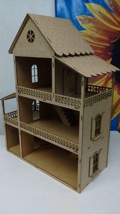 Arte com Madeira - Compra Virtual de MDF https://www.artecommadeira.com.br/6395/casa-de-boneca-montada-com-6-comodos-595-x-22-x-47