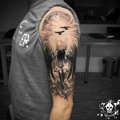 61 Best Stylish, Beautiful and Unique Tattoos for Men unique tattoos for men; unique tattoos for couples; unique tattoos for my son; unique tattoos for lost loved ones; unique tattoos for parents; unique tattoos for best friends Guardian Angel Tattoo, Angel Tattoo Men, Angel Sleeve Tattoo, Fallen Angel Tattoo, Angels Tattoo, Angel Warrior Tattoo, Cloud Tattoo Sleeve, Guardian Angels, Angel Tattoo Designs