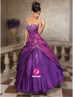 2012 Style Ball-Gown Sweetheart Applique Sleeveless Floor-Length Taffeta Prom Dresses (UK0241807 ) £89.99
