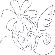 Continuous Single Line Quilting Flowers - Machine Embroidery Designs at Splinters & Threads Quilting Stitch Patterns, Machine Quilting Patterns, Quilt Stitching, Machine Embroidery Designs, Embroidery Patterns, Quilt Patterns, Quilting Stencils, Quilting Templates, Longarm Quilting