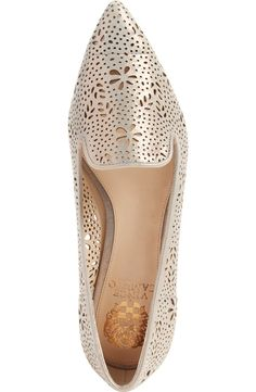A cute go-to pair of flats are a must for any functional wardrobe, and these gold perforated Vince Camuto flats spotted at the NSale are just the ticket!