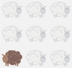 Free Cross Stitch Charts   ... is a Little Bit Ewe-nique: A Rather Sheepish Free Cross Stitch Chart