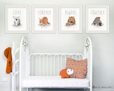 Parenthood prints for baby nursery decor. Australian by Wallfry