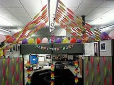 Birthday Cubicle Decorating Ideas