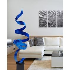 Blue Perfect Moment by Jon Allen Rock Johnson, Outdoor Art, Indoor Outdoor, The Rock, Free Standing Sculpture, Art Blue, Beautiful Modern Homes, Beautiful Inside And Out, Architectural Features