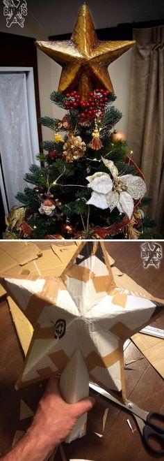 Cardboard Tree Topper.