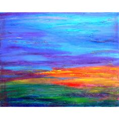 Eileen McGann Abstract Paintings ❤ liked on Polyvore featuring backgrounds, sky, textures, painting and colorful