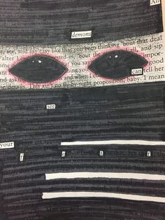 Poetry to Reveal Thematic Subjects - Great for any novel or play introduction unit!Blackout Poetry to Reveal Thematic Subjects - Great for any novel or play introduction unit! Poem Quotes, Music Quotes, Sad Quotes, Blackout Poetry, Poetry Art, Poetry Books, Book Page Art, Book Art, Found Poetry