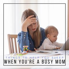 Are you an exhausted parent who has trouble resting? Try these eight tips and items for better sleep when you're a busy mom!