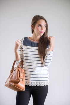 The Amy Striped Blouse