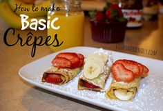 #recipes #foodie #crepes How to Make Basic Crêpes! Tasty!