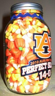 Auburn Decoration with Candycorn