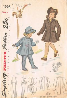 Simplicity 1998  Vintage 1940s Sewing Pattern  by HappyIFoundIt